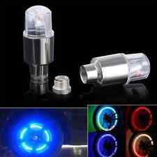 2X Blue Bicycle Bike Car Wheel Tire Type Valve Cap LED Flash Light Neon Lamp New
