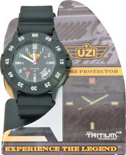Uzi Watch New The Protector Black Face UZI-001-R