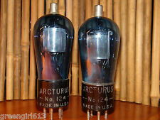 2 Vintage Engraved Arcturus Blue Glass #124 #24 Stereo Tubes Results = 32 46