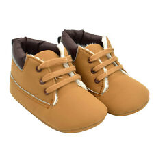 Fashion Baby Boys Newborn Toddler Warm Velvet Boots Soft Sole Leather Crib Shoes