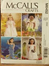 "McCalls Crafts sewing pattern for 18"" doll clothes dresses Linda Carr designs"