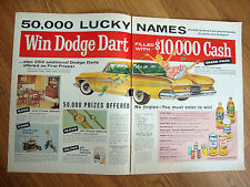 1961 Dodge Dart Ad  Win Dodge Dart Filled with $10,000 Cash