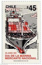 Chile 1991 #1513 Dia de la Marina Mercante Nacional MNH