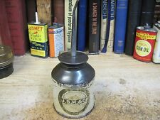 J. S. H. & CO MACHINE SQUIRT SPART OIL CAN OILER ORIGINAL MADE USA STEEL