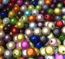 20 x 3D Illusion MIRACLE Round Acrylic Beads 12mm - Mixed Colours Lustre PB85