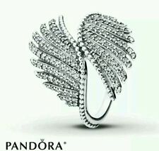 NEW AUTHENTIC PANDORA MAJESTIC FEATHERS  S925 ALE STERLING SILVER CZ RING SZ- 56