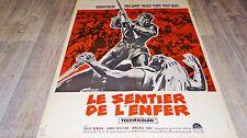 LE SENTIER DE L'ENFER  ! affiche cinema western indien 1951