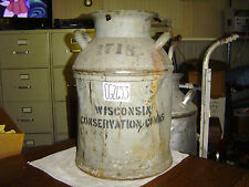 Old Antique 1718 Wis Conservation Comms Gray Milk Can Lawn & Garden Decor CG2653