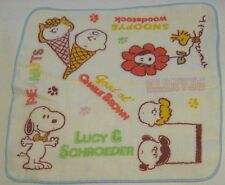 "Retired Peanuts Snoopy Towel JAPAN EXCLUSIVE 10"" x 10"" NWOT 10/MANY DIFF"