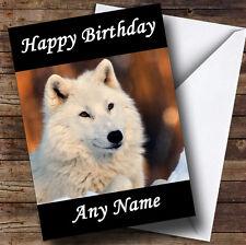 White Wolf Personalised Birthday Greetings Card