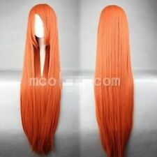 Hot Sell! INOUE ORIHIME Long Orange Red Straight Cosplay Wig 80cm