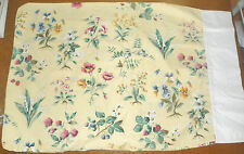 LIZ CLAIBORNE-PAIR OF YELLOW FLORAL STANDARD PILLOWCASES-FRENCH COUNTRY