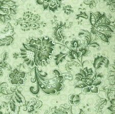 Wall Flowers Green Quilt Fabric - 1 Yard