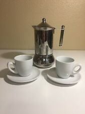 2 CUP STOVETOP ESPRESSO MAKER- INOX -18/10 MADE IN ITALY. SHIPS FAST!