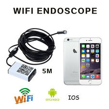 5m Wifi Borescope Inspection Endoscope Snake Camera for iPhone iOS Android