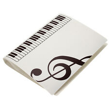 Music Sheet File Paper Folder Holder Organzier Plastic White New
