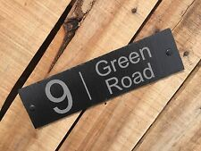 Personalised Engraved Slate Door House Modern  Number Street Address Sign Plaque