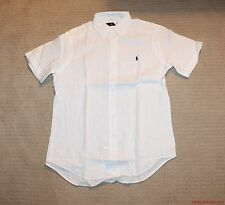 NEW Polo Ralph Lauren Pony Logo Linen Short Sleeve Classic Shirt XS S M L XL XXL