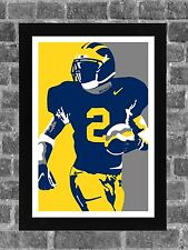 Michigan Wolverines Charles Woodson Portrait Sports Print Art 11x17