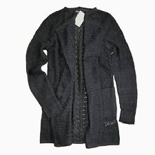 Lucky Brand - NWT - XL - Black Open Weave Carmen 3rd Piece Open Cardigan Sweater
