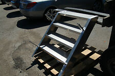 4 Step Platform Stage LADDER Aluminum Stairs Truck Trailer Semi Stairway 32""