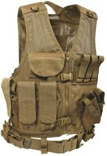 Cross Draw Tactical Vest Coyote Brown Molle Cross Draw Vest 4491