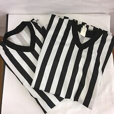 2 Cliff Keen XL Referee Shirts Basketball Solid V Neck Made in USA