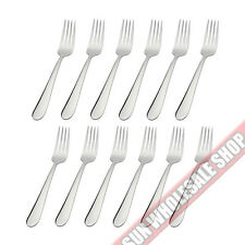 STANLEY ROGERS Albany 12 Piece Dessert Fork Set Quality Stainless Steel!