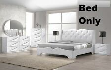 Modern 1 Piece Bedroom Queen Size Bed Headboard Like Leather Crystal Exterior