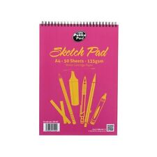 Pukka A4 Artist Sketchbook Sketching Drawing Art Pad 50 Sheets/100 Pages 135 GSM
