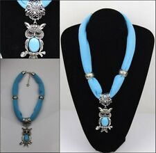 New fashion Women's jewelry Scarf with Zinc Alloy OWL Pendants