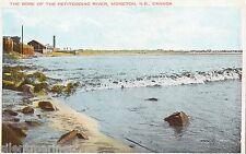 Moncton, N.B., Bore of the Petitcodiac River, old coloured postcard, unposted