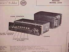 1953 DODGE PICKUP TRUCK TOWN PANEL POWER WAGON PLATFORM AM RADIO SERVICE MANUAL