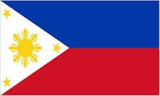 Premium Quality 5Ft X 3Ft 5'X3' Flag Philippines