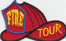 Girl Boy Cub FIRE DEPARTMENT TOUR--HELMET Fun Patches Crests Badges SCOUTS GUIDE