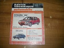 REVUE TECHNIQUE RTA CITROËN BX 19 GT / 19 TRS / 19 GTI berlines - breaks