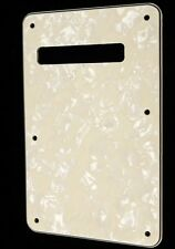 NEW BACKPLATE aged pearl white stratocaster  pour guitare Fender, Squier...