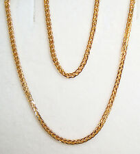 "18k yellow gold square wheat chain(2.4gr/20""inch)"