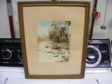 antique hand tinted photo signed