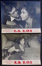 2 Photos La Loi - Gina Lollobrigida Marcello Mastroianni - 1959 - La Legge -