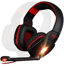 G4000 Audio Surround LED rosso PC Laptop Gaming Headset Cuffie con microfono