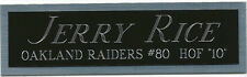 JERRY RICE RAIDERS NAMEPLATE AUTOGRAPHED SIGNED FOOTBALL HELMET JERSEY PHOTO