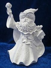 Ready to Paint Ceramic Bisque Wizard with Sphere, unpainted; U-paint