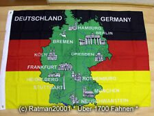 Fahnen Flagge Deutschland mit Ortsnamen - 95 x 135 cm