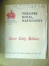 1907 Theatre Royal Programme- SWEET KITTY BELLAIRS; E Castle's The Bath Comedy