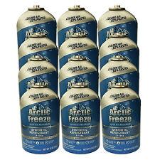 12 Cans R-134a Arctic Freeze Refrigerant + Oil + Leak Sealer Developed for NASA