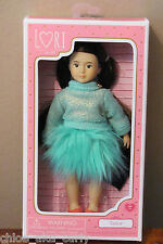 "TAMA Our Generation Lori Doll Small 6"" Fair skin w black brown hair brown eyes"