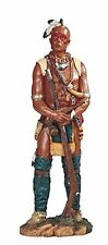 "17"" Native American Indian Warrior w/ Rifle Statue Figurine Indio North"