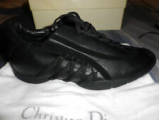 Christian Dior  Black leather sneaker shoes  and Dior sunglasses EU 36 UK3