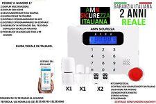KIT ALLARME ANTIFURTO CASA TOUCH SCREEN SENZA FILI WIRELESS COMBINATORE  GSM APP